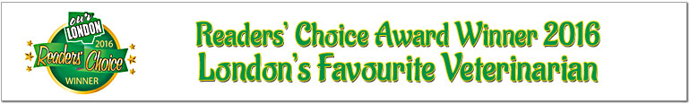 Readers' Choice Award Winner 2016 - London's Favourite Veterinarian